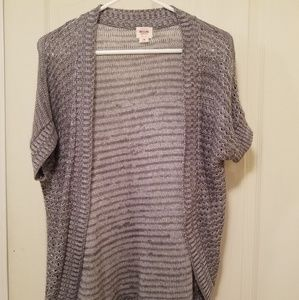 Gray short sleeve tunic/cover up